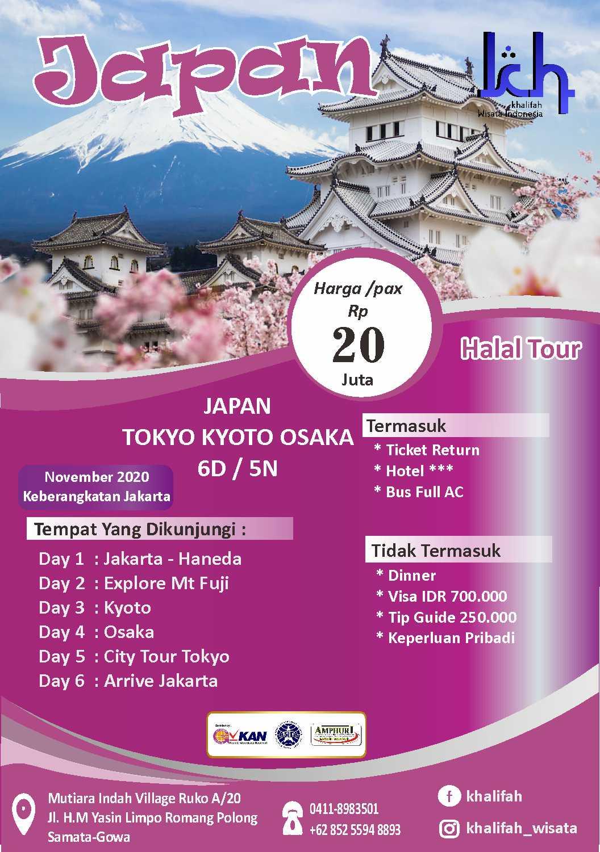 Paket Tour Japan Halal Tour