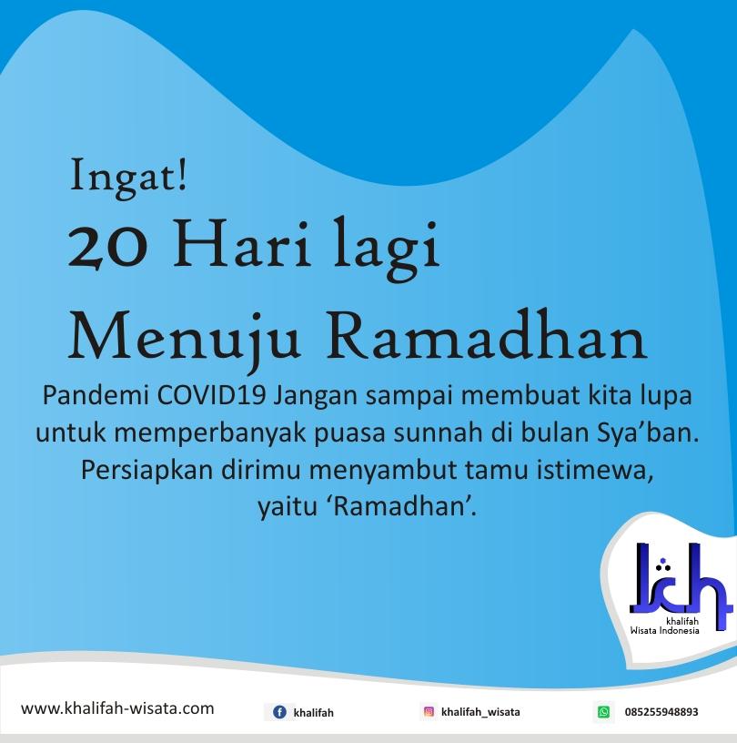 20 Hari Menuju Ramadhan
