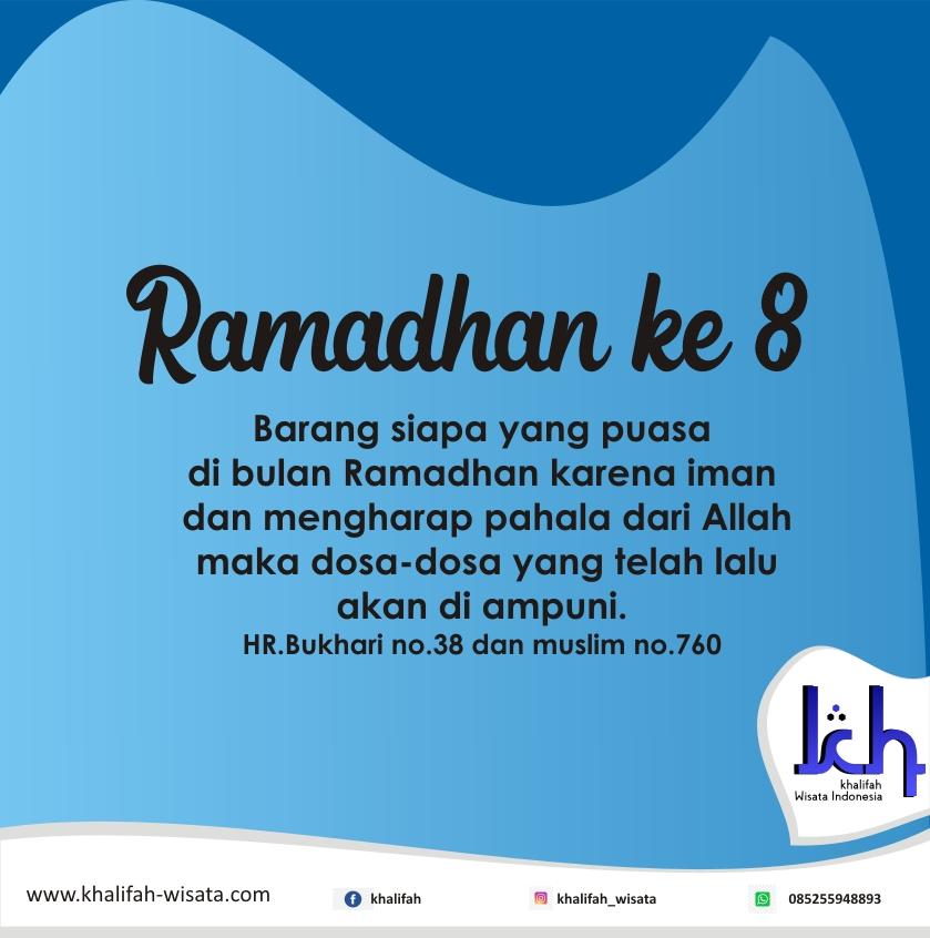 Alhamdulillah Ramadhan ke 8